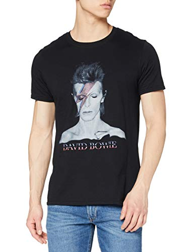 Rockoff Trade David Bowie Aladdin Sane Camiseta, Negro, XL para Hombre