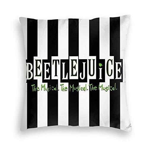 NotApplicable Pillow Cover Beetlejuice The Musical 45Cmx45Cm Anime Sofá Funda De Cojín para El Hogar Cama Habitación Funda De Almohada Cuadrada Funda De Almohada De Navidad Decoración De Interi