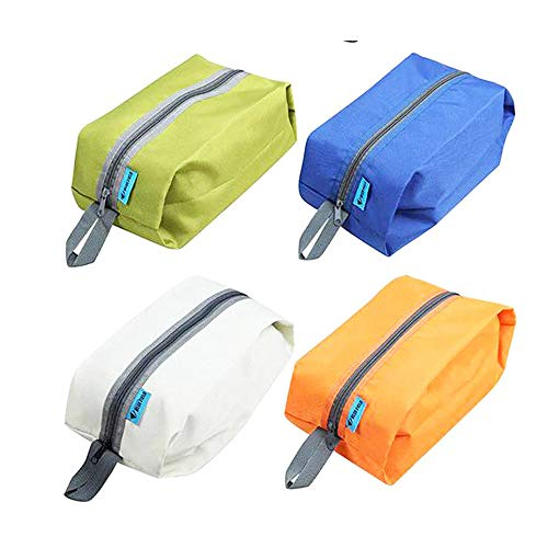Set Di 2 Contenitori Impermeabili Porta Scarpe; Organizer Da Viaggio Con Zip Per Scarpe. Ideale Per I Viaggi. Per Scarpe, Scarpe Da Ginnastica, Stivali O Golf. Colori Casuali