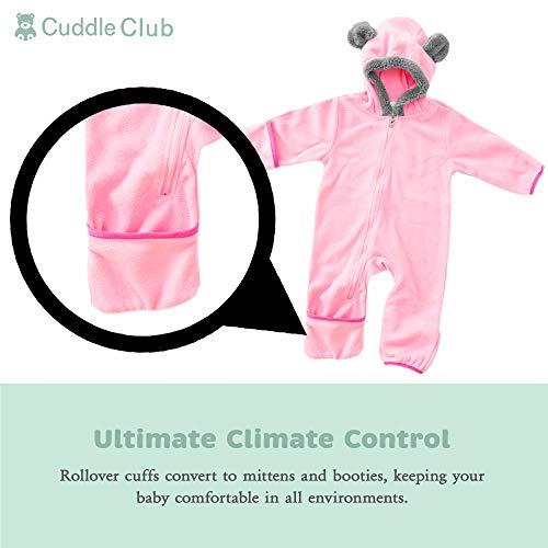Funzies Veste légère en Laine Polaire - vêtement d'extérieur Pyjama pour bébé Ours Rose 18-24...