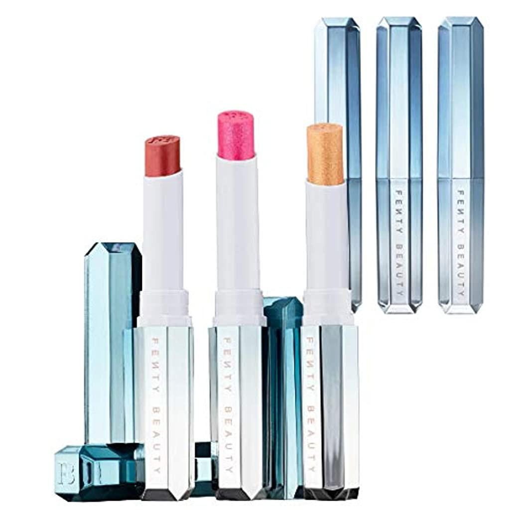 アナウンサー苦悩任命FENTY BEAUTY BY RIHANNA 限定版Frosted Metal Lipstick Snow Daze - Cuffing Season, What's Your Numb'a, So Chilli [海外直送品] [並行輸入品]