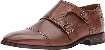 Bostonian Men s Nantasket Monk-Strap Loafer Dark tan Leather 10.5 Medium US