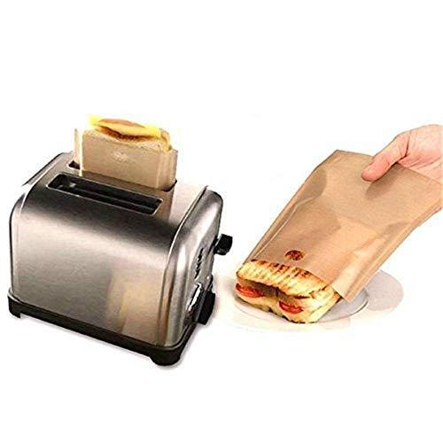 Fellibay Sacs alimentaires et pour sandwichs grille-pain Sac résistant Sac à pain de cuisson antiadhésif réutilisable 10 Pcs