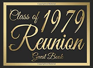 Class of 1979 Reunion Guest Book #6: A graduate party themed guest book with guest prompts.