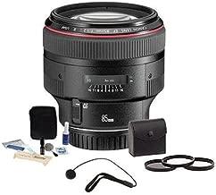 Canon EF 85mm f/1.2L II USM AutoFocus Telephoto Lens Kit - USA - Bundle with ProOptic 72mm Filter Kit, Lens Cap Leash, Professional Lens Cleaning Kit