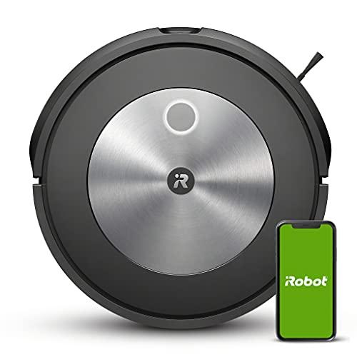 Robot aspirador con conexión Wi-Fi iRobot® Roomba® j7 con dos cepillos de goma multisuperficie - Ideal para mascotas - Aprende, mapea y se adapta a tu hogar - Detección y evitación de objetos