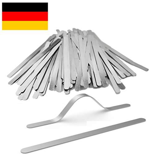 LeBigMag | 500 Aluminium Nasenbügel/Nose Bridge | 85 x 5 x 0,5 mm | rostfrei | Kochfest