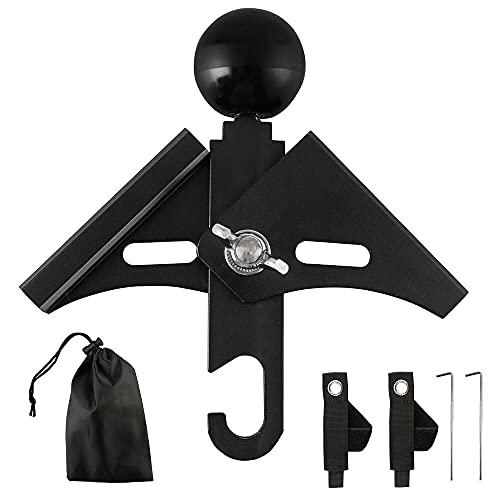 NOCNEX 二又化パーツ ポール 角度調整可 アルミ合金 ポール固定用ベルト付 テント 二股ポール 二又パーツ ワンポールテント ツーポールテント ランタン穴付き 簡単 軽量 収納袋付き