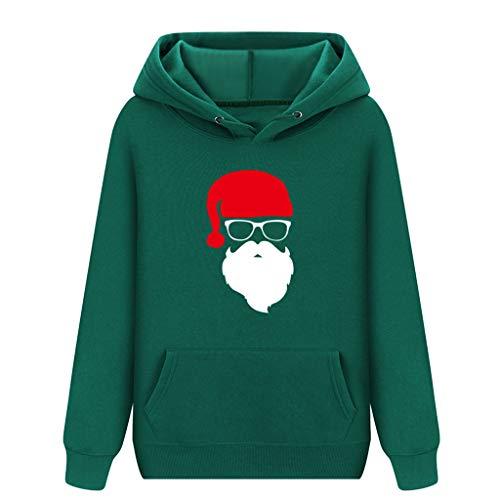 Zylione Weihnachten Sweatshirt Hoodie Kapuzenpullover Langarm Winter Pullover Weihnachtspulli Christmas Schneemann Hoodies Pullover mit Kapuzen Tops
