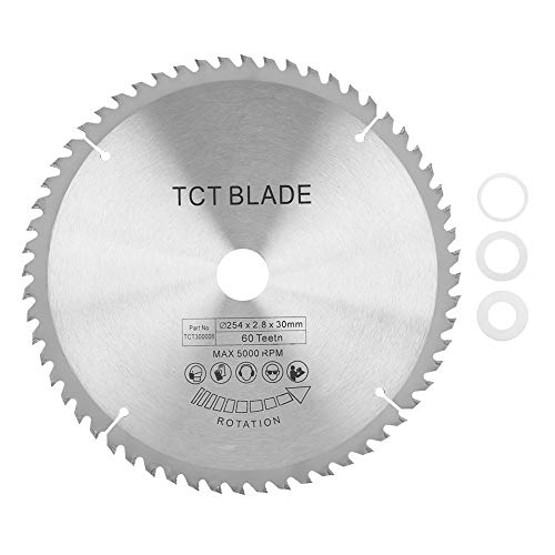 Disco de corte de carburo TCT circular hoja de sierra para metal madera plástico - 254 * 30 mm 60 dientes