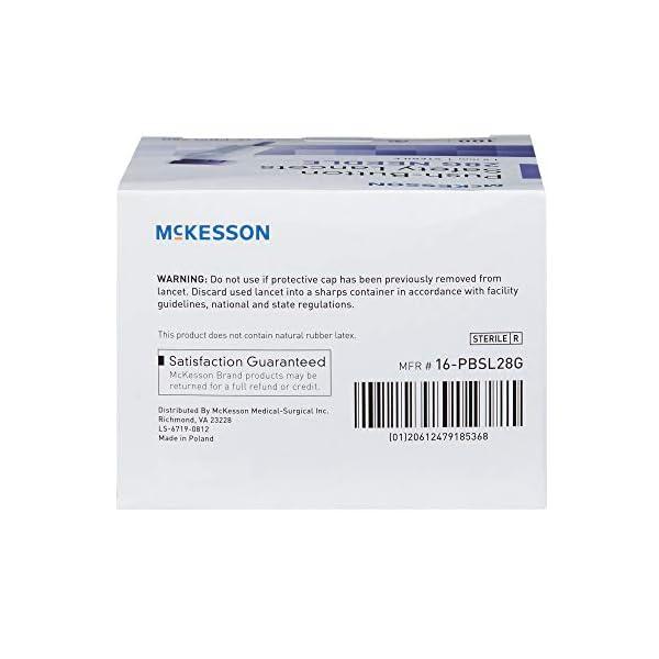 buy  McKesson Lancet Push Button 28 Gauge 1.5 mm Depth ... Diabetes Care