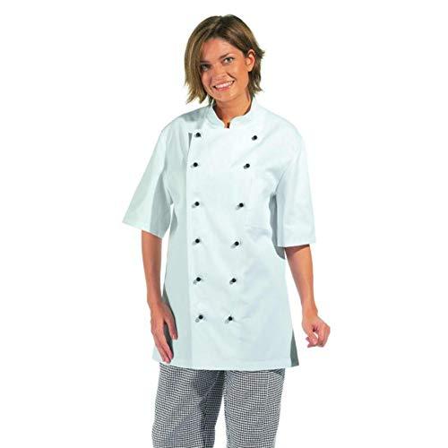 LEIBER Koch-Jacke - kurzarm - Lieferung ohne Knöpfe - weiß - Größe: 60