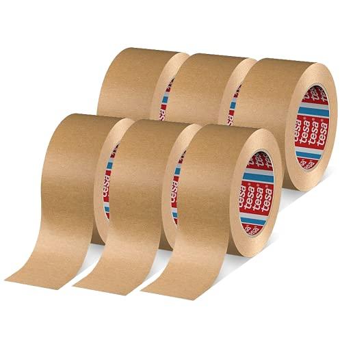 tesa Papier Standard, braun 50m:50mm, weiß, 50mm braun