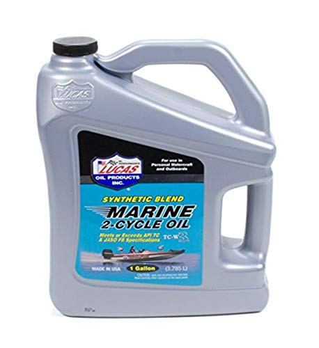 Lucas Oil Products LUC10861 Synthetic Blend 2 Cycle Marine Oil, 1 Gallon, 1 Pack
