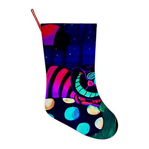 VIPODER 3D Print Cat Christmas Holiday Big Xmas Stockings Fireplace Hanging Stocking for Family Holiday Xmas Party Decorations