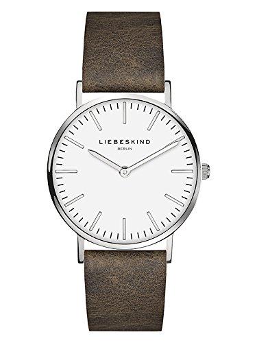 Liebeskind Berlin Damen Analog Quarz Armbanduhr mit Lederarmband LT-0086-LQ