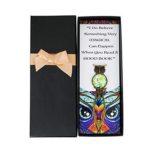 SincerelyForYou - Segnalibro vintage in ottone a forma di gufo saggio, regalo per donne, insegnanti, studenti, lauree, Natale