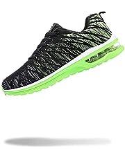 [50dB] エアライト レディース スニーカー 軽量 運動靴 くつ シューズ ジム トレーニング ダンス 体育館 (イエローグリーン 23.5cm)