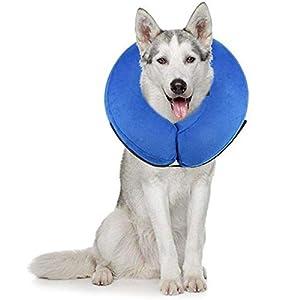 PET SPPTIES Collier Gonflable de Récupération Confortable Collerette de Protection pour Chien Chats, Ajustable, Lavable PS005