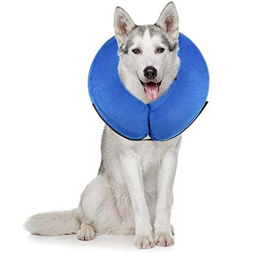 PET SPPTIES aufblasbar Halsband für Haustier Hund Katze bequem weich Recovery Schwimmen Schutz-mit Magic Reißverschluss für Haustier Hund Nackenschutz Kissen PS005 (L)