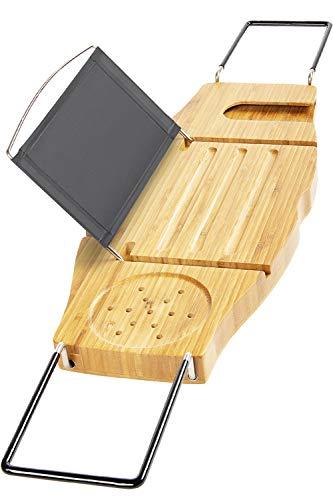 Bamodi Badewannenablage ausziehbar - Badewannenaufsatz aus Bambus (2019)