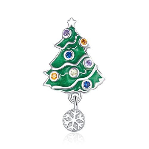DFHTR Lady Charm 925 Sterling Silver Little Snowman Feliz Navidad Charm para Pulsera Original Collar Colgante Accesorios De Joyería