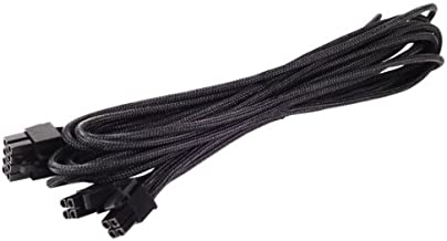 SilverStone Black Sleeved PSU Cable for One EPS/ATX 12V 8-Pin Adapter 550mm long PP06B-EPS55