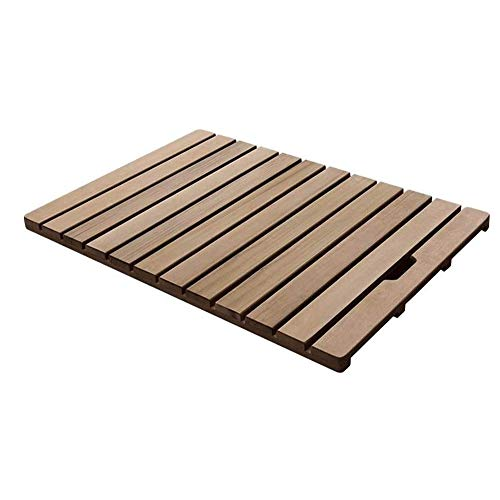 JJSFJH Massivholz-Bodenmatte Dusche Slatted Umweltschutz aushöhlen Design Non-Slip Duscheck (Size : 40 * 60CM)