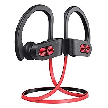 Mpow Flame S Bluetooth Headphones Sports aptX-HD Bass+ Loud Sound Bluetooth 5.0 Sport Headphones Running Earbuds W/12H Playtime IPX7 Waterproof cVc8.0 Noise Cancelling Mic W/Carrying Case Red