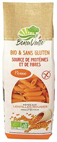 Bonavalle Bio sans gluten Pâtes Avec Lentilles Corail (Rouge) 35%/céréales 270 g