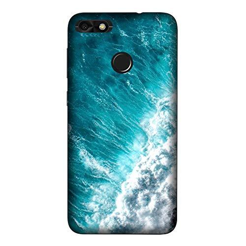 Generico Funda Carcasa Compatible con Huawei Y6 Pro 2017 Olas onde Hawai/Imprimir también en los Lados. / Teléfono Hard Snap en Antideslizante Anti-Rayado Resistente a los Golpes rígido