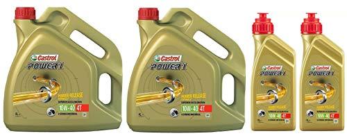 Castrol POWER 1 4T 10W-40 semi-synthetische motorfiets motorolie, 10 liter