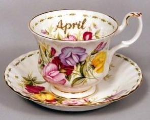 Tazas de café Royal Abert, meses de abril.
