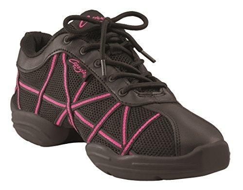 Bloch 524 Rote Criss Cross Tanz Sneaker, Rosa-Schwarz, Gr.- 41 1/3 EU