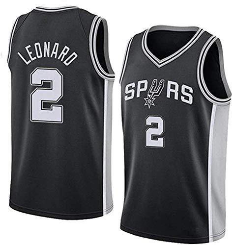 Maglia Uomo, Kawhi Leonard Jersey di Pallacanestro NBA Spurs 2# Jersey, Retro Jersey Classico, Comodo/Leggero/Traspirante Ricamati Mesh Unisex Felpa,A,M(170~175CM/65~75KG)