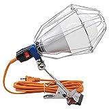 ウイングエース LED電球付 屋内用クリップランプ ビッグルミネ 5mコード LA-3005-LED