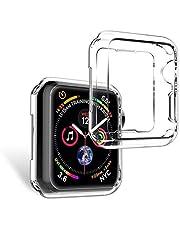 Microcase Apple Watch Seri 4 40 mm Önü Açık Tasarım Silikon Kılıf - Şeffaf