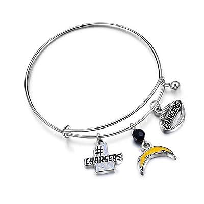 NFL San Diego Chargers Three Charm Logo Bracelet