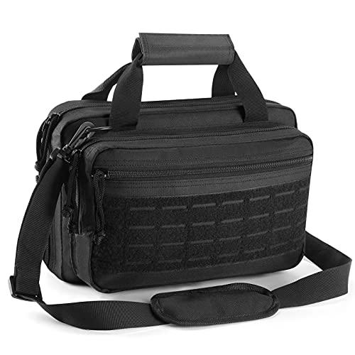 DAREKUKU Double Pistol Bag for Handguns and Ammo Firearm,...