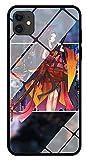 Funda para Teléfono Anime Samurai Girl Funda para iPhone con Brillo Nocturno Carcasa Protectora De Cristal Templado Antirrayas Compatible con iPhone 11 Pro
