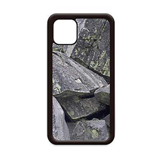 Donkere stenen stukjes behang Crackles mos voor Apple iPhone 11 Pro Max Cover Apple mobiele telefoonhoesje Shell, for iPhone11 Pro