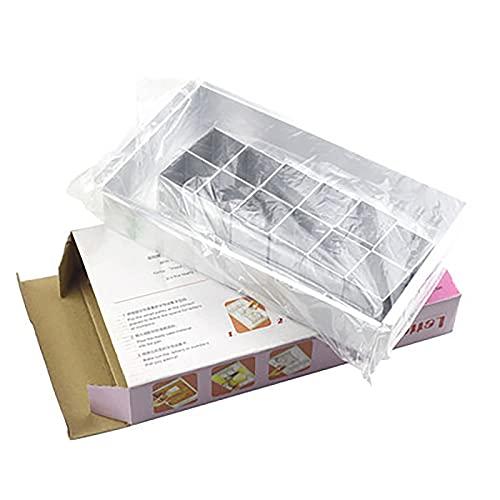 YOPOTIKA Molde para tartas con 12 latas para tartas de bricolaje con letras y mousse para tartas y manualidades