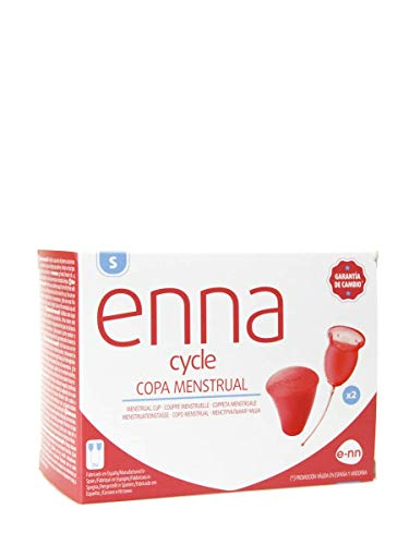 Enna Cycle Copa Menstrual (2 Copas + Caja Estéril), S, Pack de 1