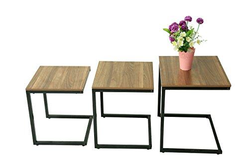 Premier NT4540-3 - Juego de mesa auxiliar apilable para sofá o sofá