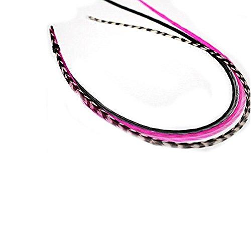 Sexy Sparkles Plume extension de cheveux Mix 15,2 - 27,9 cm plumes pour Inclut 2 Coque en silicone Micro Perles 5