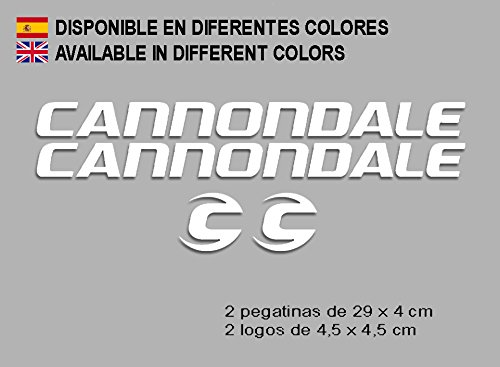 Ecoshirt MG-TUQV-PDLE Aufkleber Cannondale F118 Vinyl Adesivi Decal Aufkleber Polyurethan(n) MTB Stickers Bike, weiß