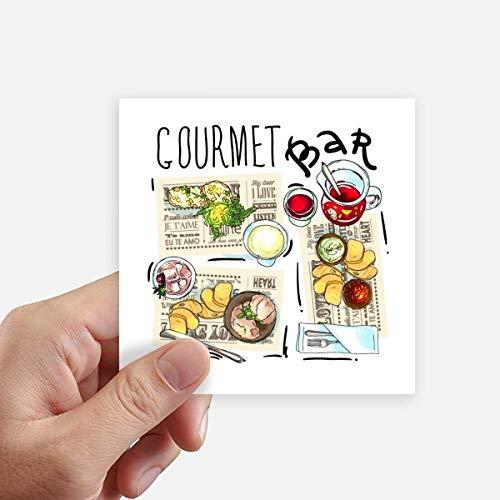 DIYthinker Gourmet Bar Steak Soep Limonade Vierkante Stickers 10Cm Muur Koffer Laptop Motobike Decal 8 Stks