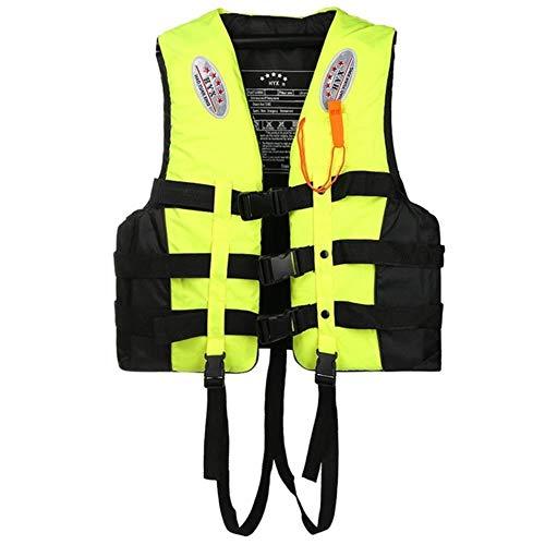 LLine Adult Professional Reddingsvest Zwemmen Varen Ski Drifting Vest Reddingsvest Jassen, Groen, L