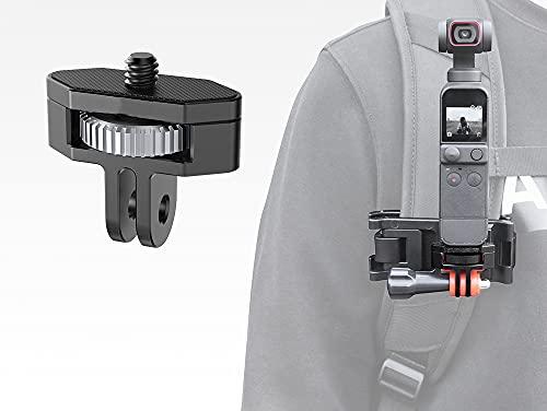 Fututech - Adaptador 1/4 de metal ajustable para cámara Go Pro, Pocket2, Insta360, One X2/X, SLR Camera – negro