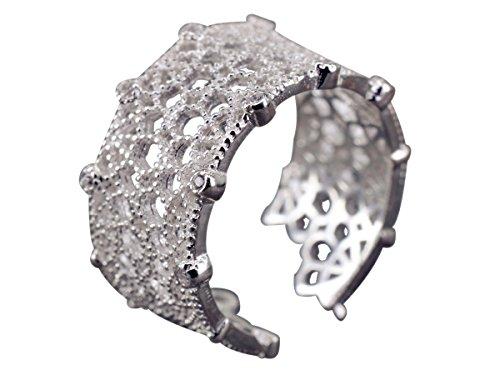 NicoWerk Silberring Bohemia Ring Silber 925 Verstellbar Damenringe Damen Schmuck SRI213
